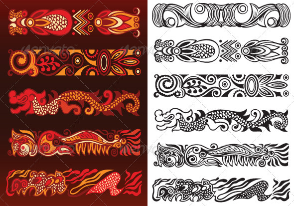 Decorative Ornament Elements - Borders Decorative