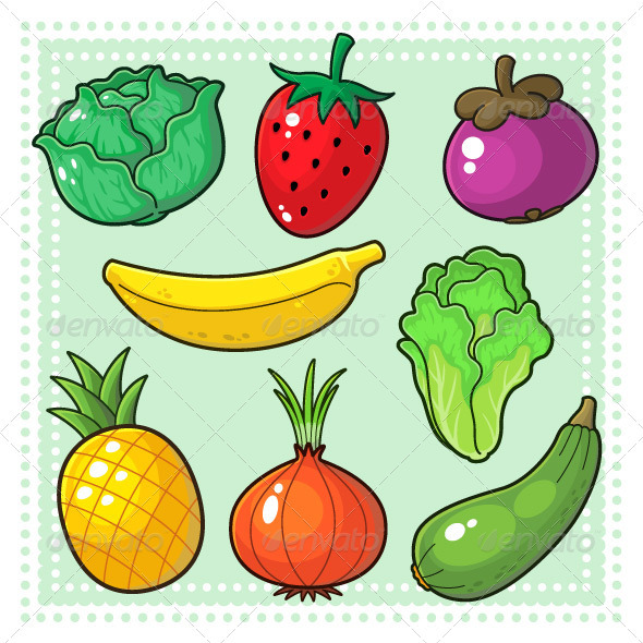 Fruits & Vegetables 03 - Food Objects