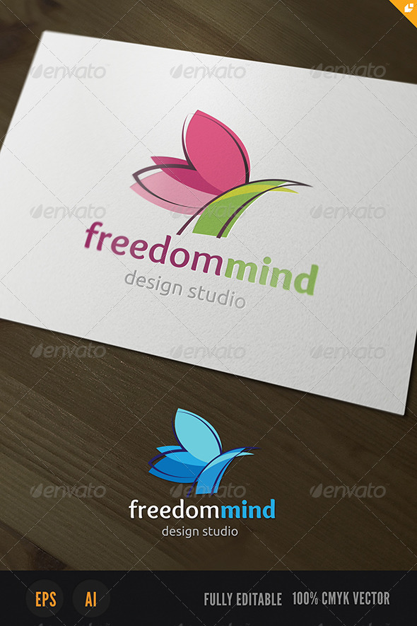 Freedom Mind Logo - Animals Logo Templates