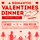 Romantic Valentine's Dinner Poster and Flyer - GraphicRiver Item for Sale