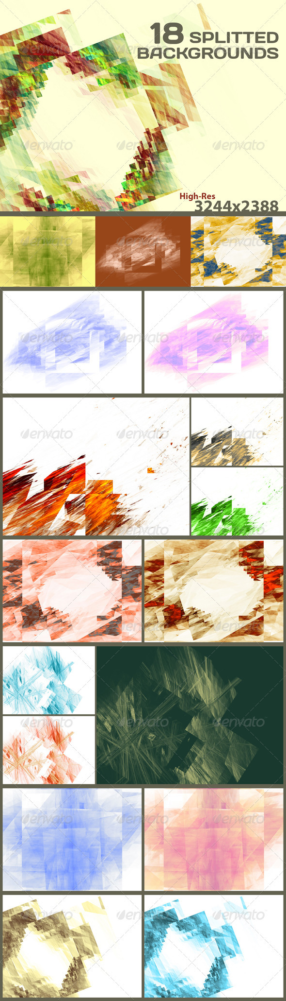 18 Splitted Backgrounds - Abstract Backgrounds