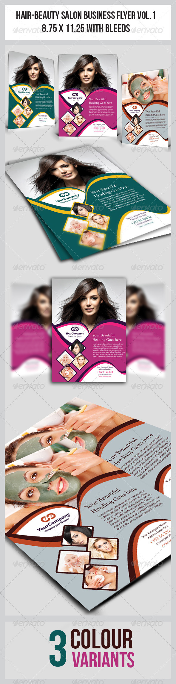 Hair Beauty Salon Business Flyer Vol 1 By Graphicms Graphicriver
