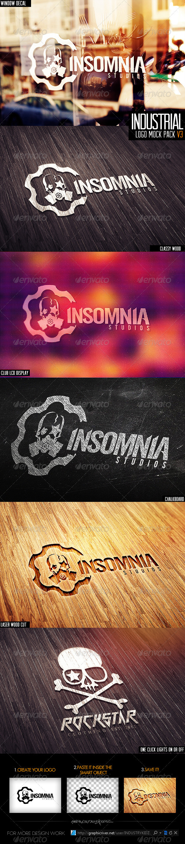 Industrial Photorealistic Logo Mock-Up V3 - Logo Product Mock-Ups