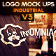 Industrial Photorealistic Logo Mock-Up V3 - GraphicRiver Item for Sale