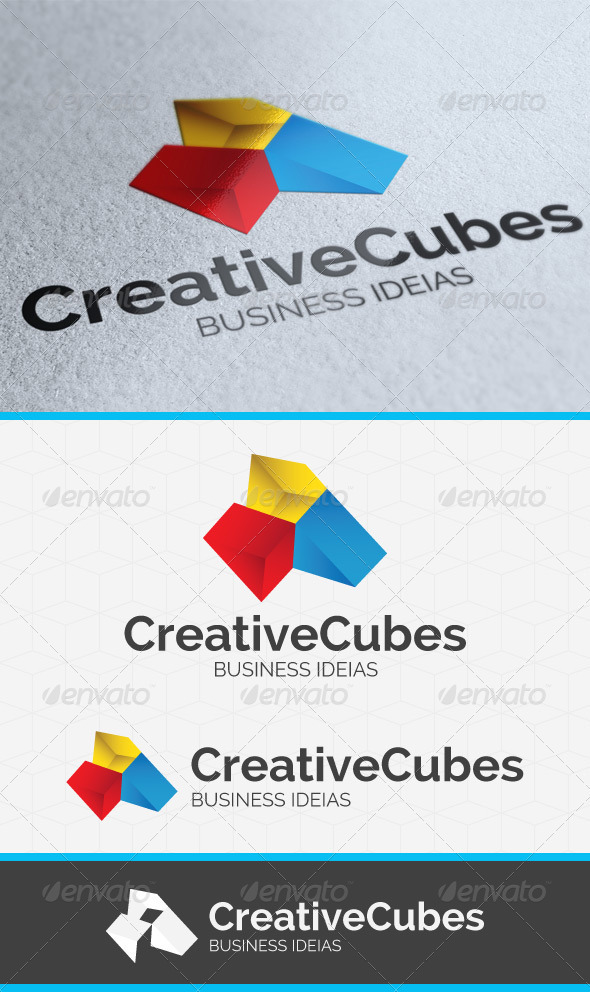 Creative Cubes Logo Template - Vector Abstract
