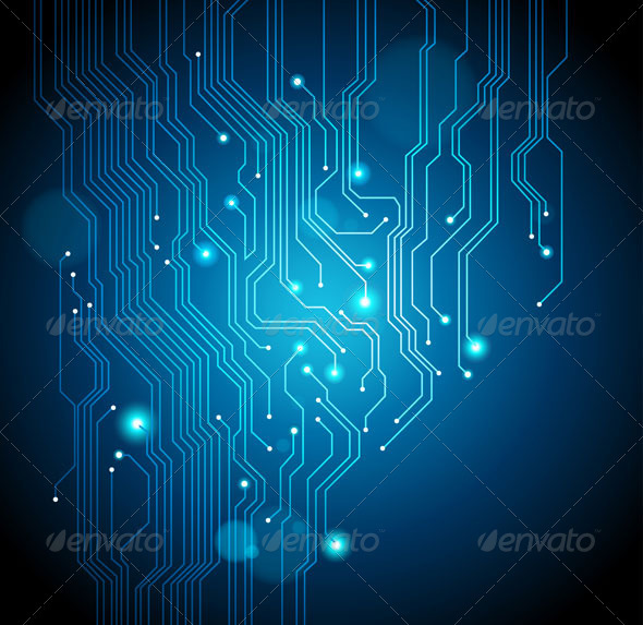 Abstract Circuit Board Background By Silvertiger