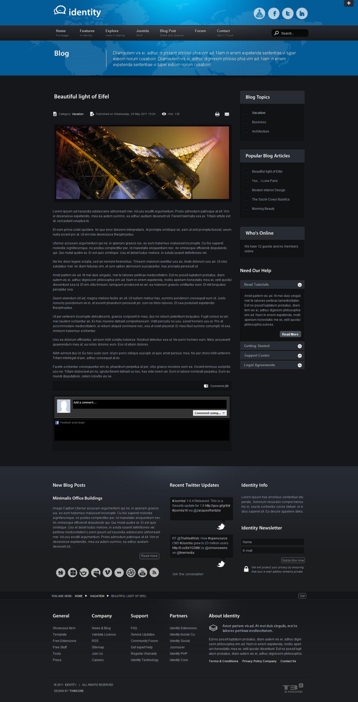 identity premium joomla template by twincore themeforest