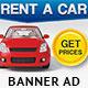 Car Rentals Banner Ad - GraphicRiver Item for Sale