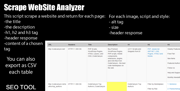 Scrap WebSite Analyzer - CodeCanyon Item for Sale