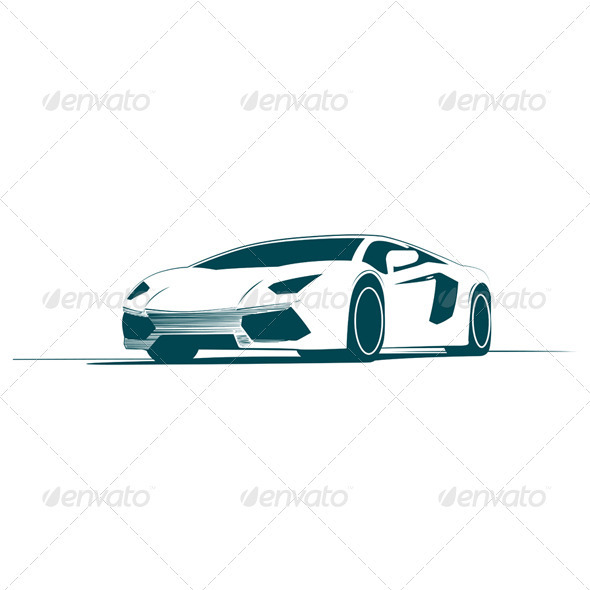 White Sport Car and Racing - Man-made Objects Objects