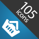 105 Web Icons Bundle - GraphicRiver Item for Sale