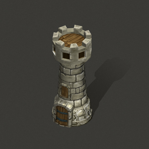 Tower Low poly - 3DOcean Item for Sale