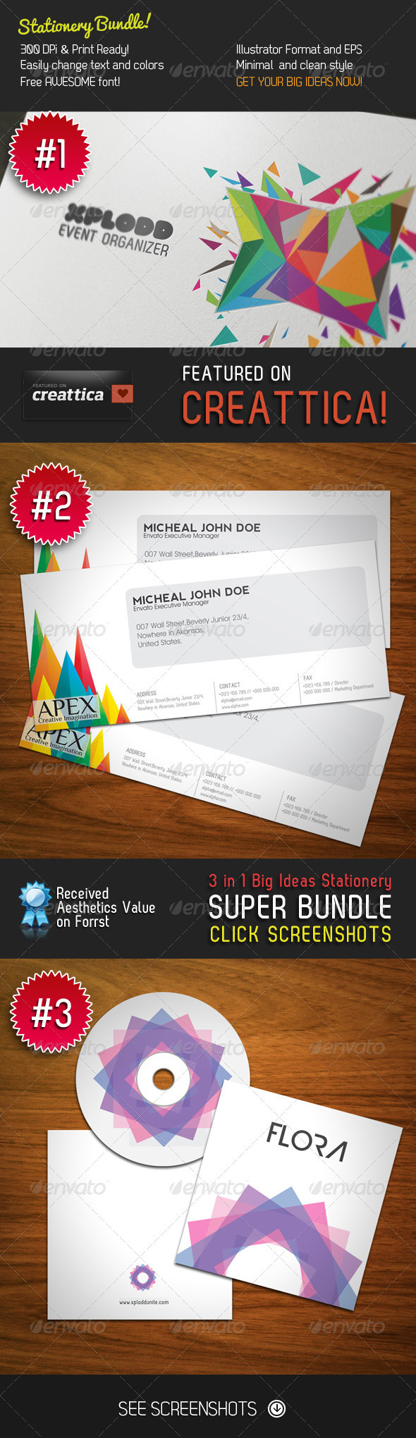 Big Ideas Stationery 3 in 1 Bundle - Stationery Print Templates