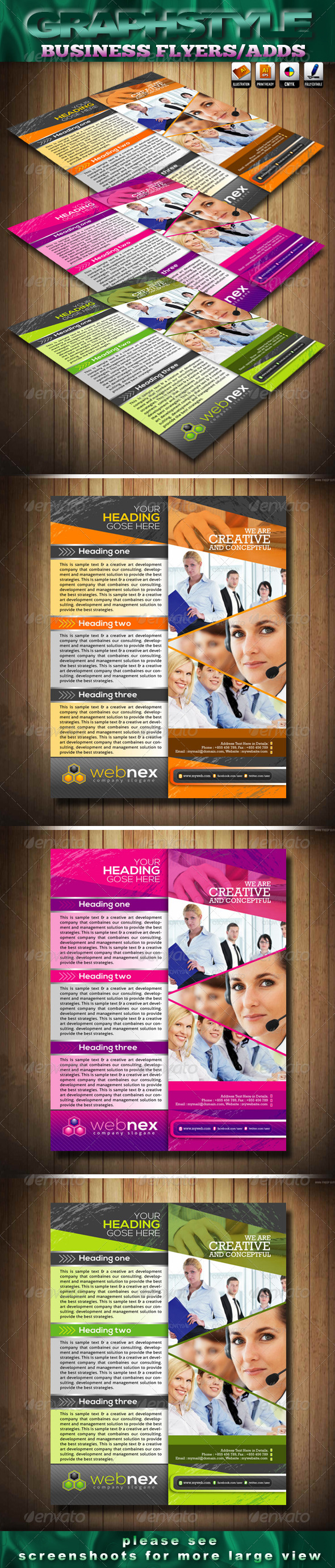 Webnex Business Flyers/Adds - Corporate Flyers
