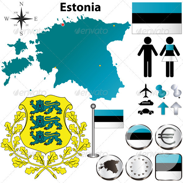 Estonia Map - Travel Conceptual