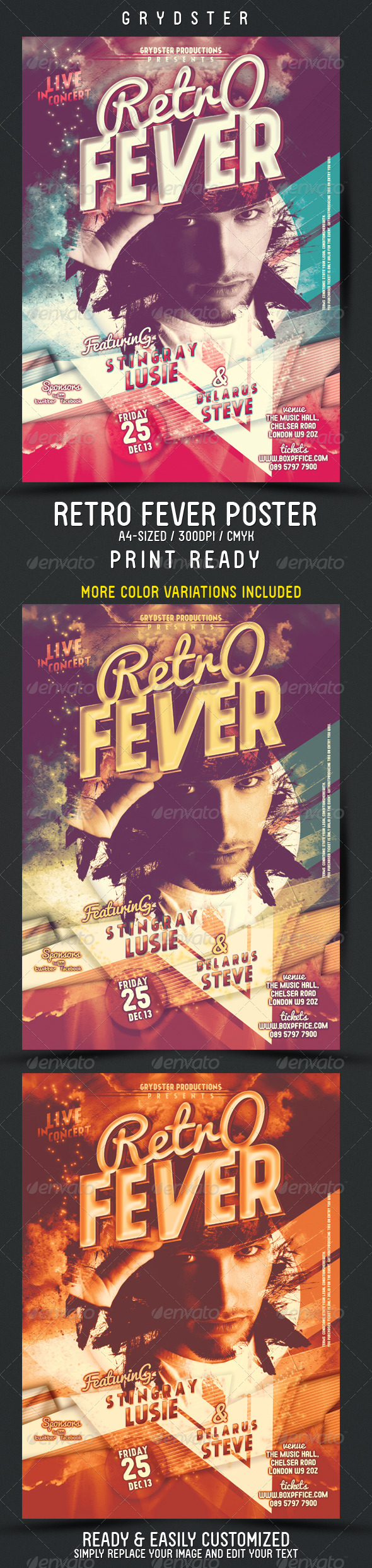 Retro Fever Flyer - Poster - Events Flyers