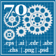 70 Gears Elements  - GraphicRiver Item for Sale