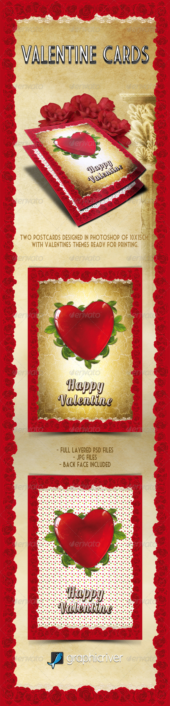 Valentines Cards - Holiday Greeting Cards