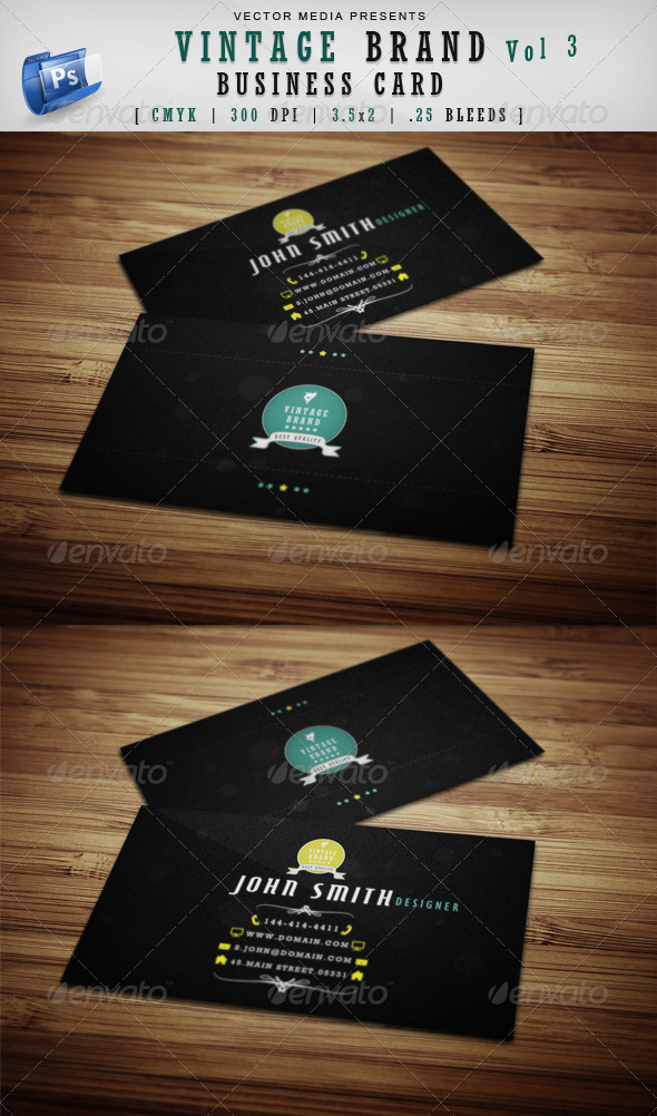 Vintage Brand - Business Card [Vol 3] - Retro/Vintage Business Cards