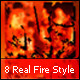 8 Realistic Fire Layer Styles - GraphicRiver Item for Sale