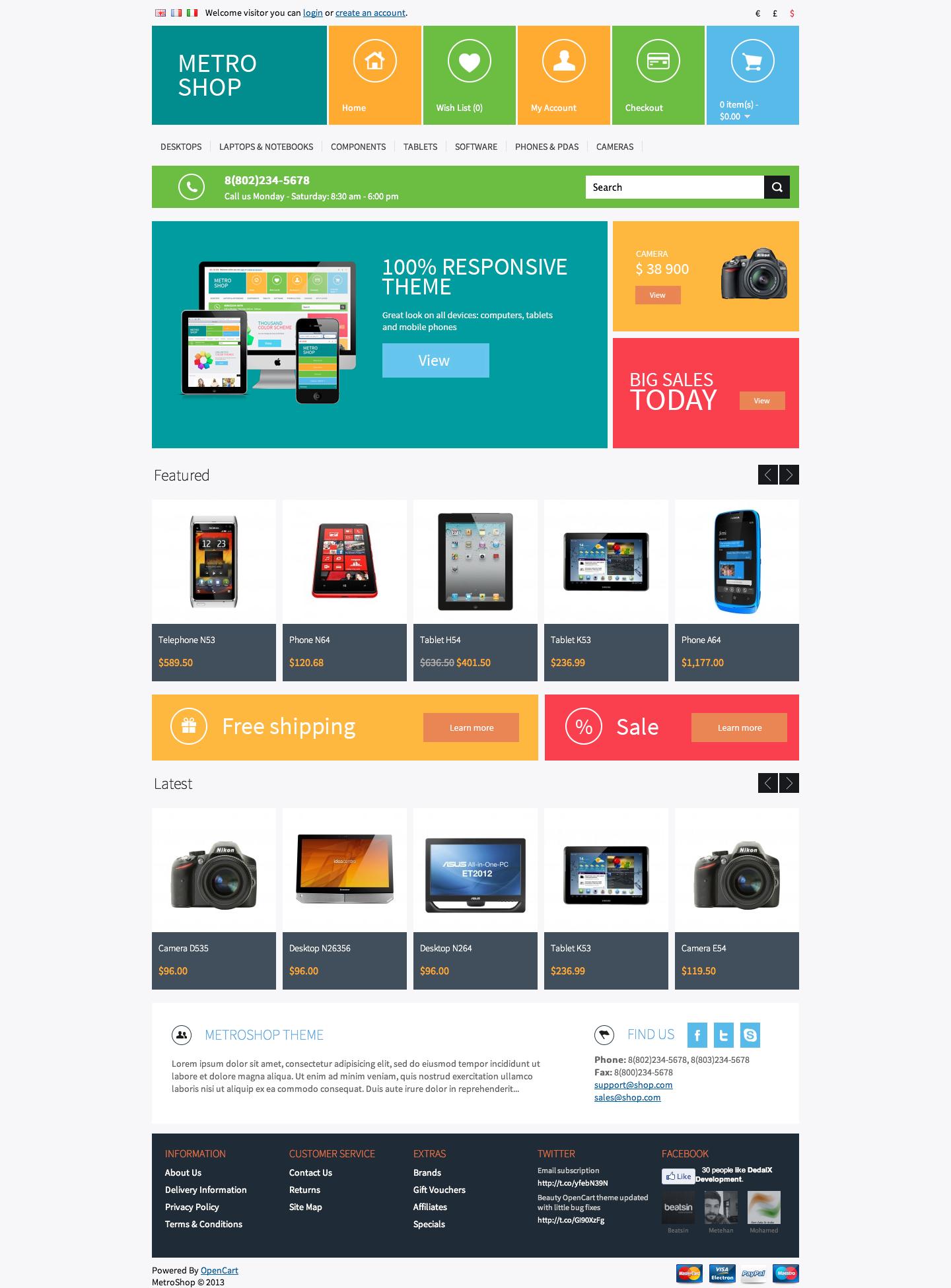 MetroShop - Premium OpenCart theme by dedalx | ThemeForest