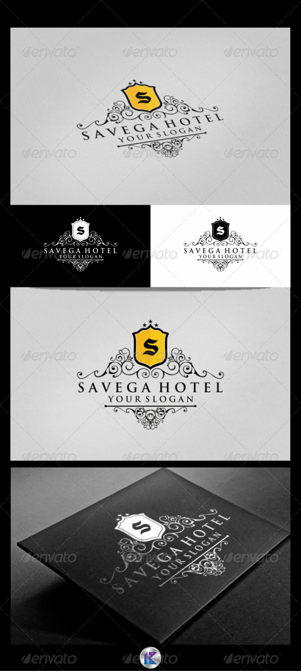 Savega Hotel Logo Template - Crests Logo Templates
