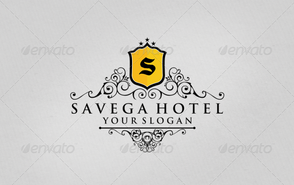 Savega Hotel Logo Template