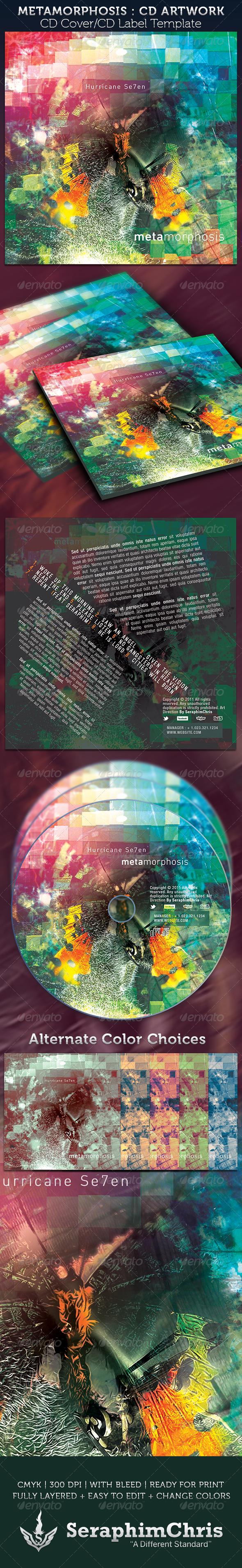 Metamorphosis CD Cover Artwork Template - CD & DVD Artwork Print Templates