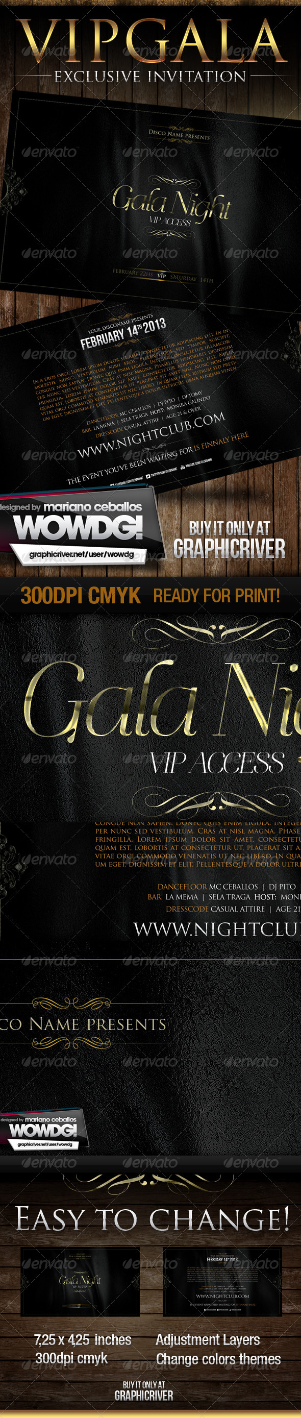 Gala Night Vip Flyer - Clubs & Parties Events