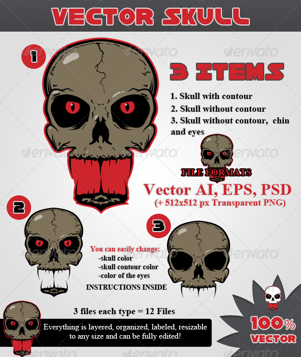 Vector Skull - Miscellaneous Characters
