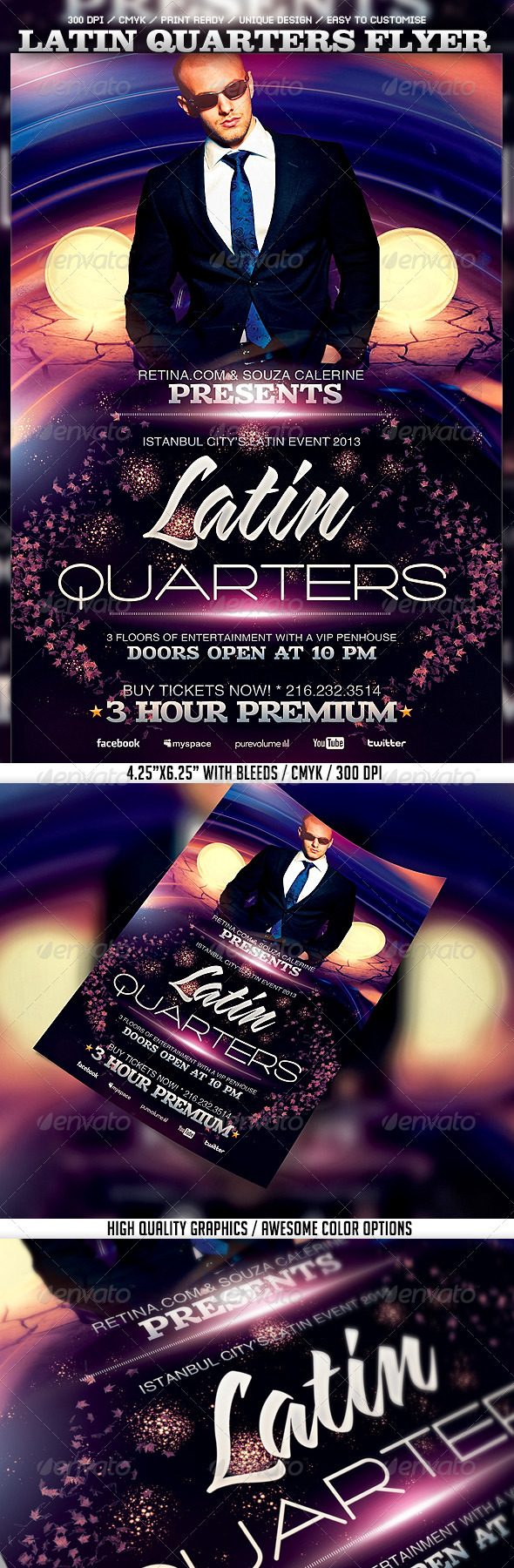 Latin Quarters Flyer Template - Clubs & Parties Events