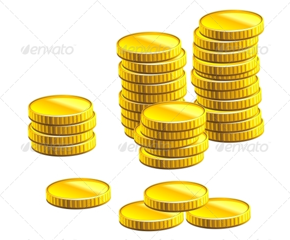 Many Gold Coins - Concepts Business