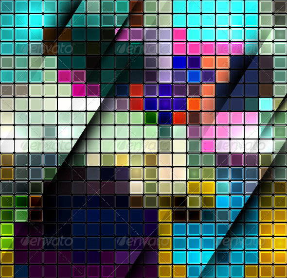 Vector Mosaic Background - Backgrounds Decorative