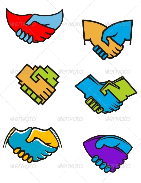 Handshake Symbols and Icons - Concepts Business