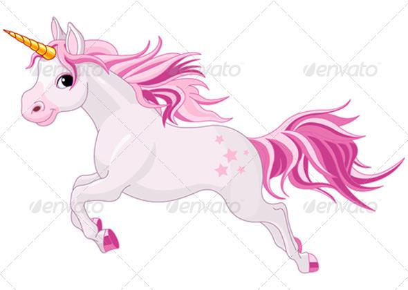 Running unicorn - Animals Characters