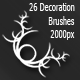 26 Decoration Brushes - GraphicRiver Item for Sale