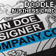 Doodle Style Business Card Template - GraphicRiver Item for Sale