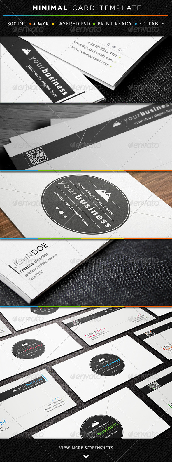 Minimal Business Card Template - Creative Business Cards