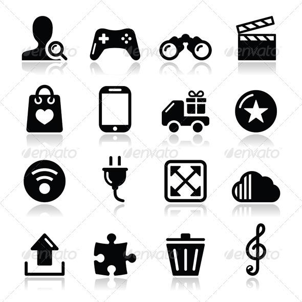 Web Internet Icons Set - Vector - Web Technology