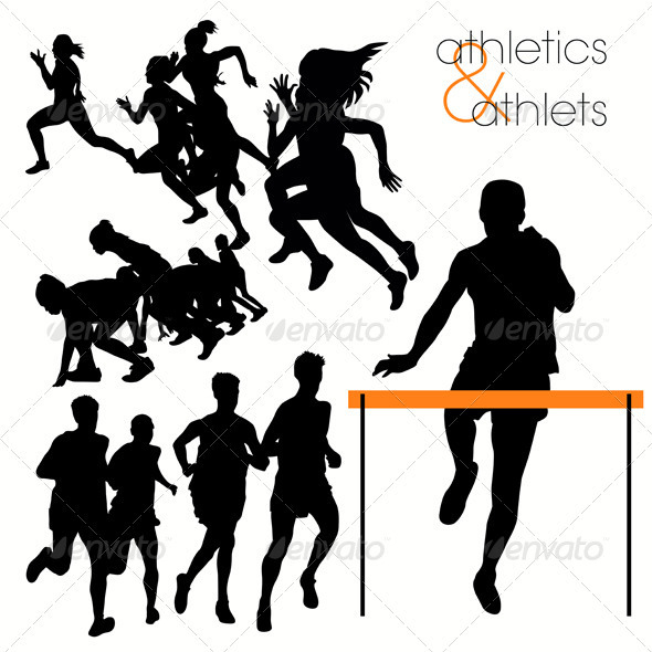 Running Athlettes Silhouettes Set - Sports/Activity Conceptual