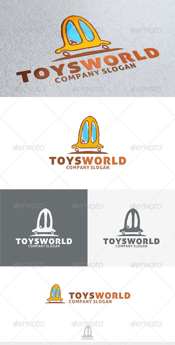 Toys World Logo - Objects Logo Templates