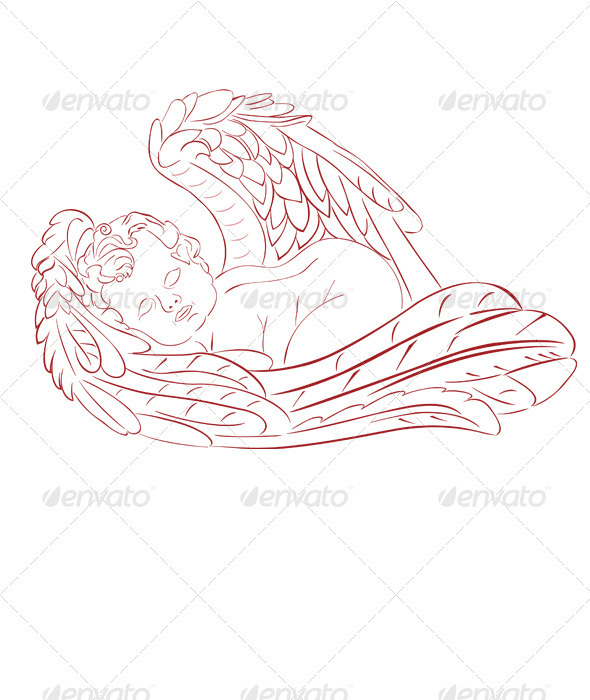 Sleeping Angel - Characters Vectors