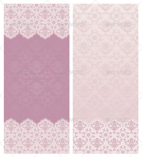Wedding Invitation - Floral Ornament - Backgrounds Decorative