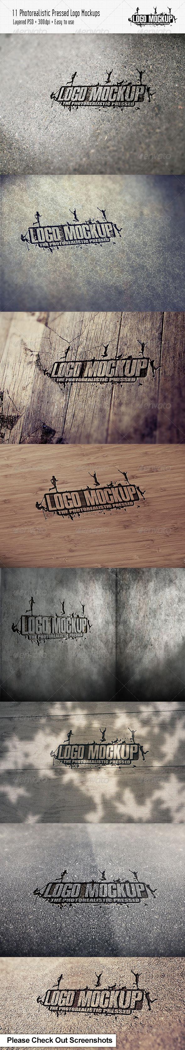 11 Photorealistic Pressed Logo Mock-Ups - Logo Product Mock-Ups