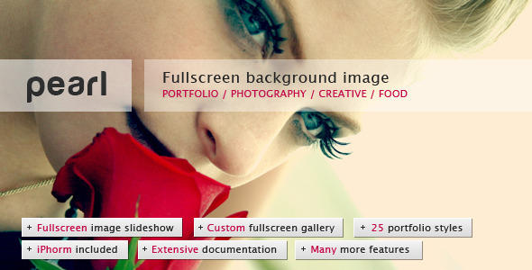Free Download Pearl - Light Full Screen Background Template Nulled Latest Version