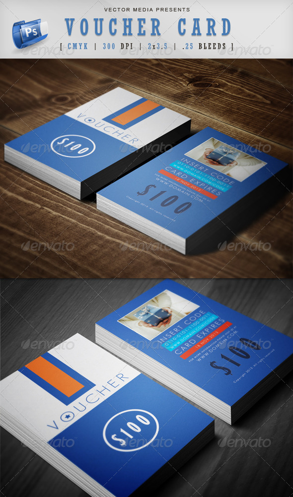 Voucher Card - Cards & Invites Print Templates