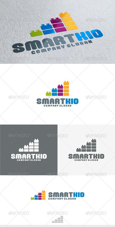 Smart Kid Logo - Vector Abstract