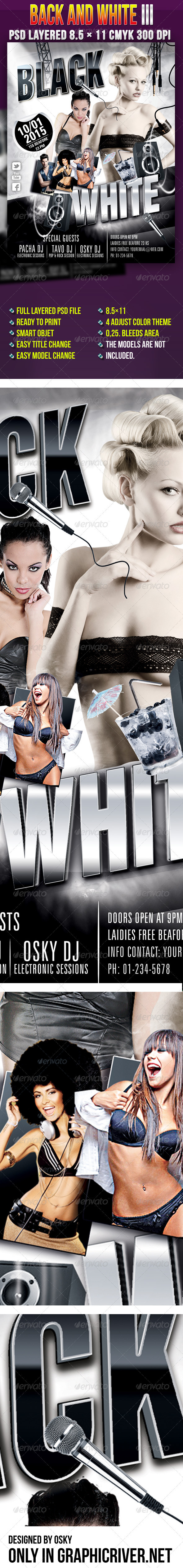 Back And White III - Clubs & Parties Events