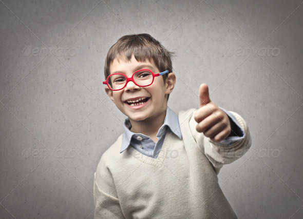 Child Thumb Up - Stock Photo - Images