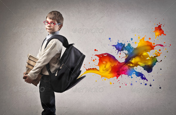 Coloring Backpack - Stock Photo - Images